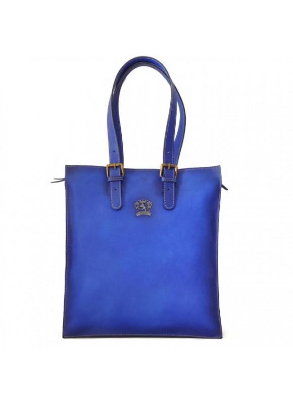 Pratesi Tote Bag Bibbiena in cow leather - Bruce Electric Blue