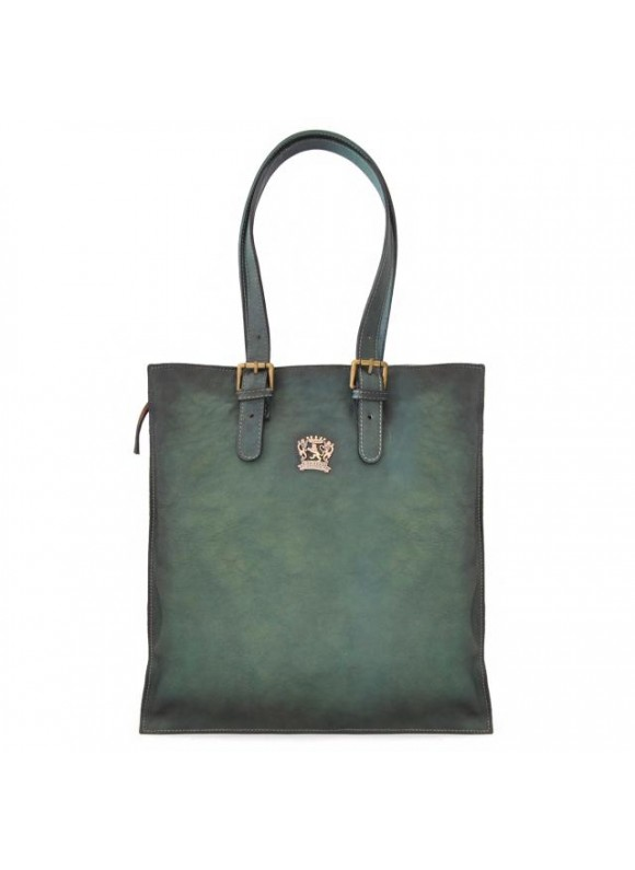 Pratesi Tote Bag Bibbiena in cow leather - Bruce Green