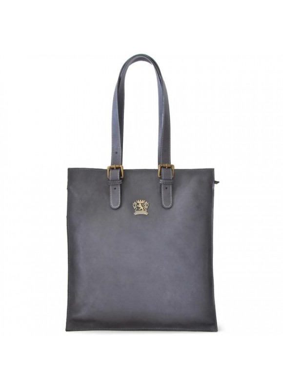 Pratesi Tote Bag Bibbiena in cow leather - Bruce Grey
