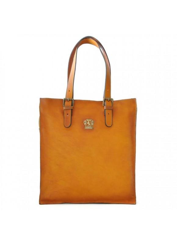 Pratesi Tote Bag Bibbiena in cow leather - Bruce Mustard