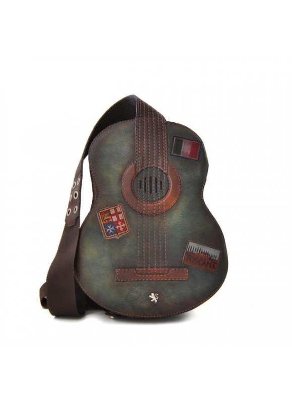 Pratesi Chitarra Small Backpack in cow leather - Bruce Green