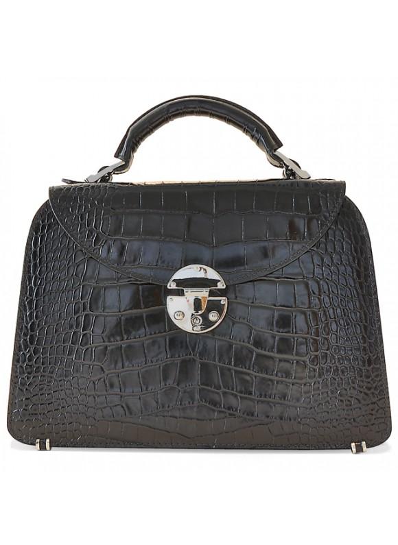 Pratesi Veneziano Small King Handbag in cow leather - King Black