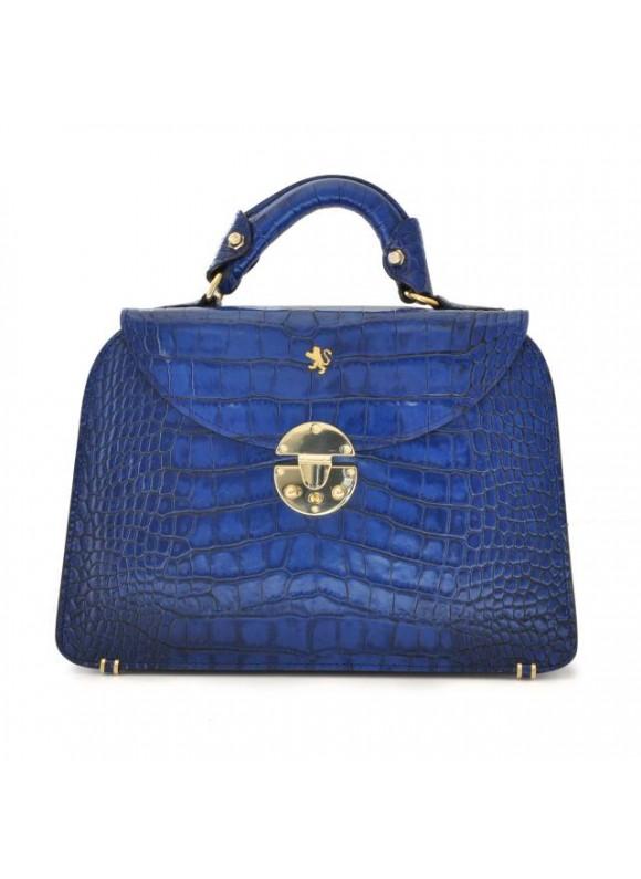 Pratesi Veneziano Small King Handbag in cow leather - King Blue