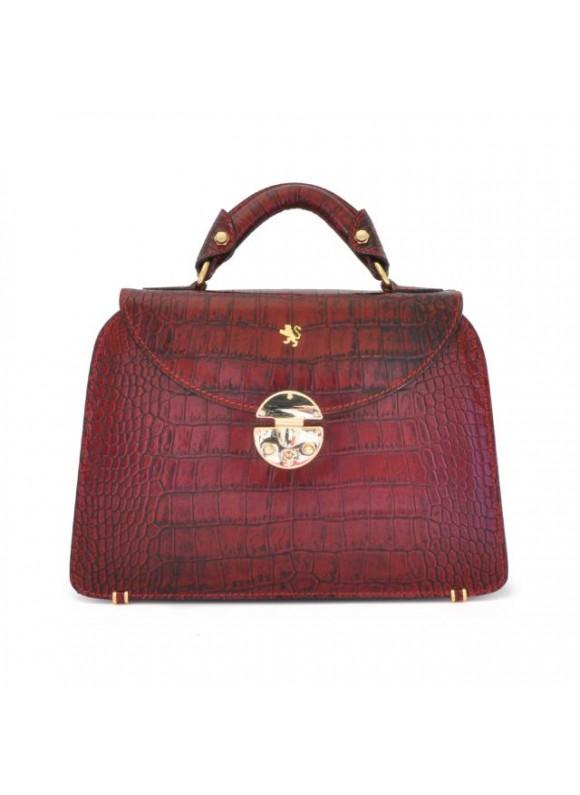 Pratesi Veneziano Small King Handbag in cow leather - King Cherry